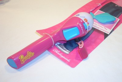 Barbie fishing pole rod reel combo shakespeare new for kids for Barbie fishing pole