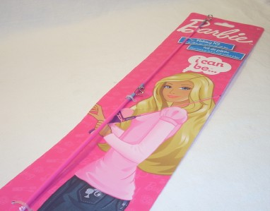 Barbie fishing pole rod reel combo shakespeare new for for Barbie fishing pole