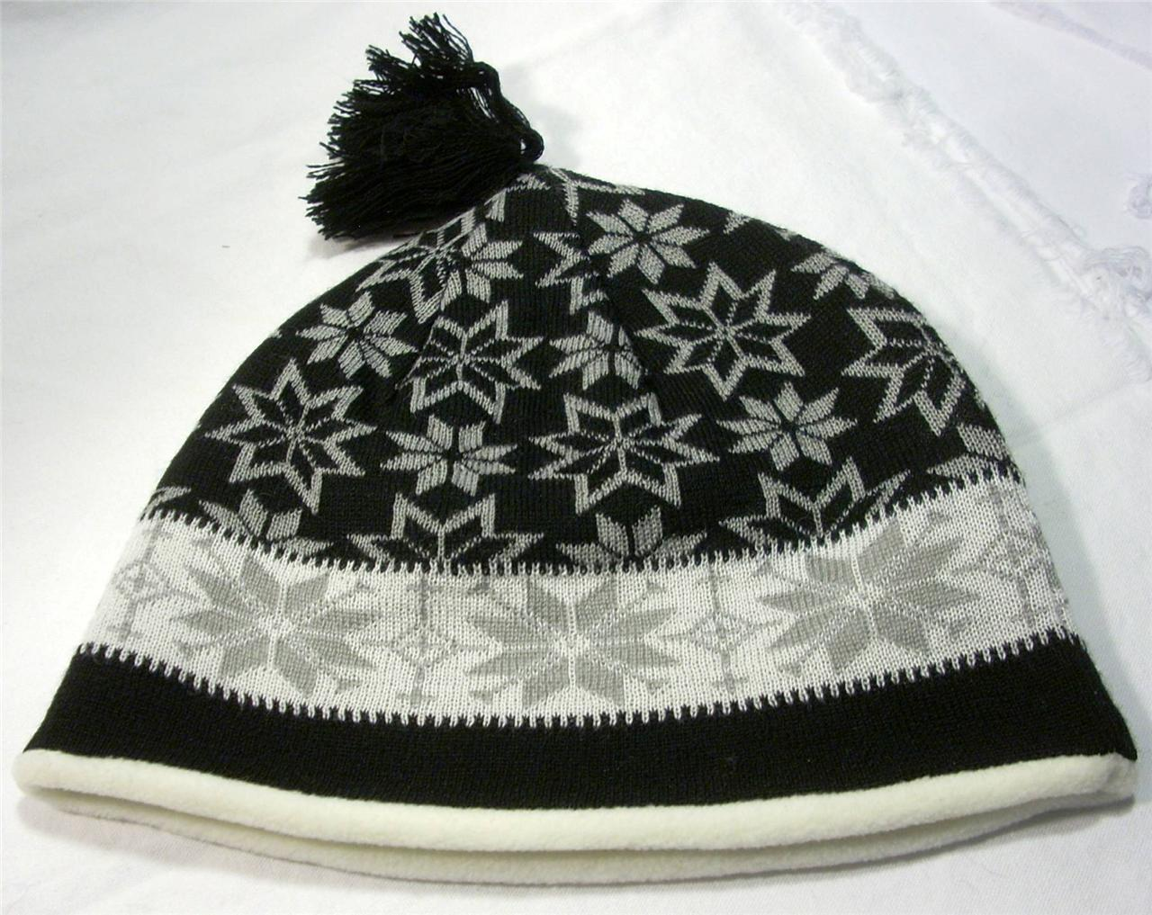 Grand Sierra Womens Ladies Snowflake Beanie Cap Hat Skiing Snowboarding Winter