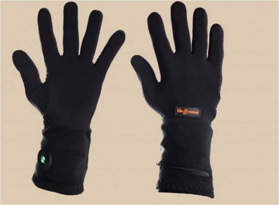 Blazewear x1 battery heated inner gloves for skiing winter for Winter fishing gloves