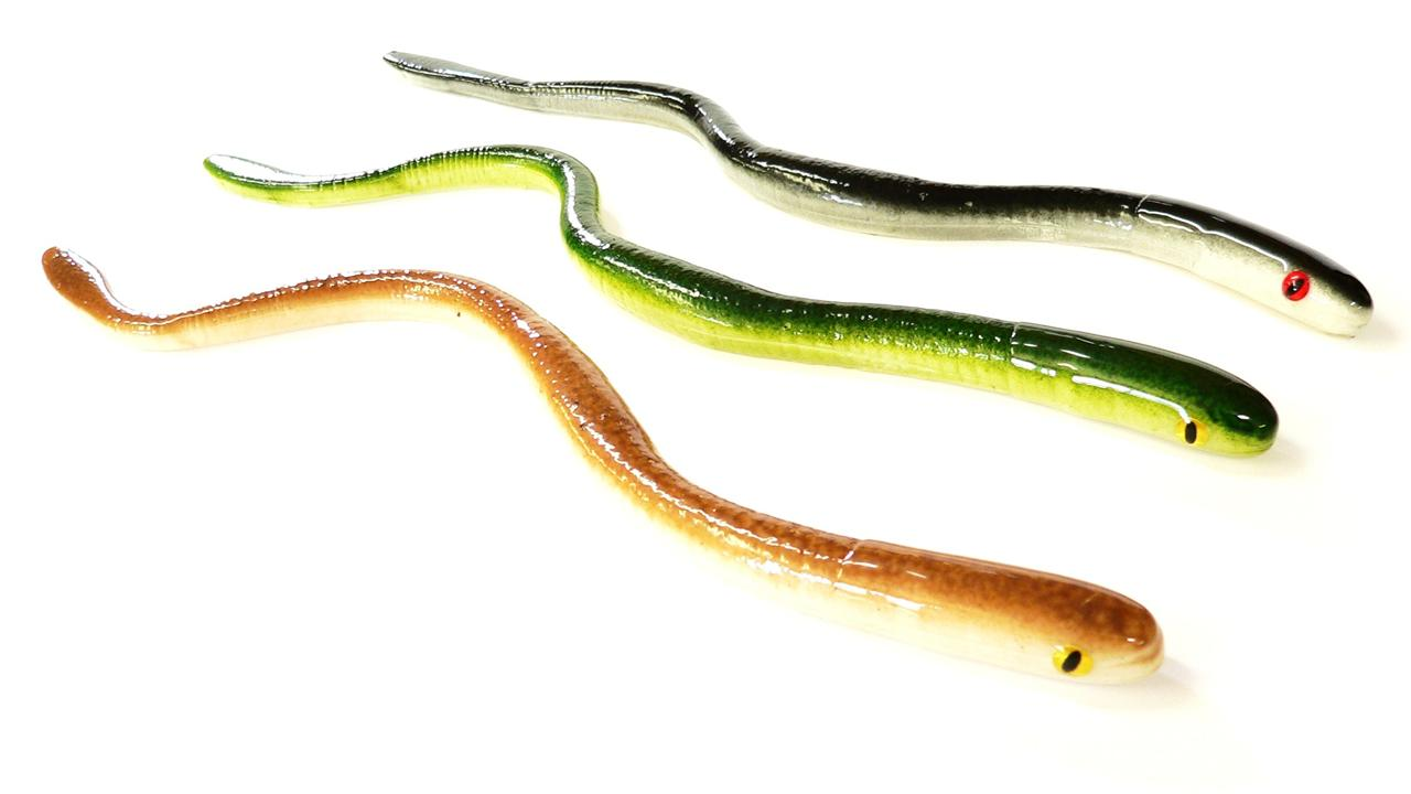 Bogbaits natural series monster snakes 2 sizes realistic for Snake fishing lure
