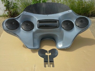 harley batwing fairing for touring road king bagger 4x5 speakers ebay. Black Bedroom Furniture Sets. Home Design Ideas