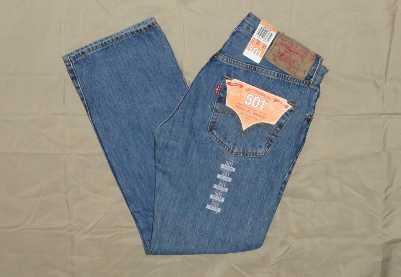 Levi's Men's 501 Original Straight Leg Jeans With Many Sizes Levis New w/ Tags