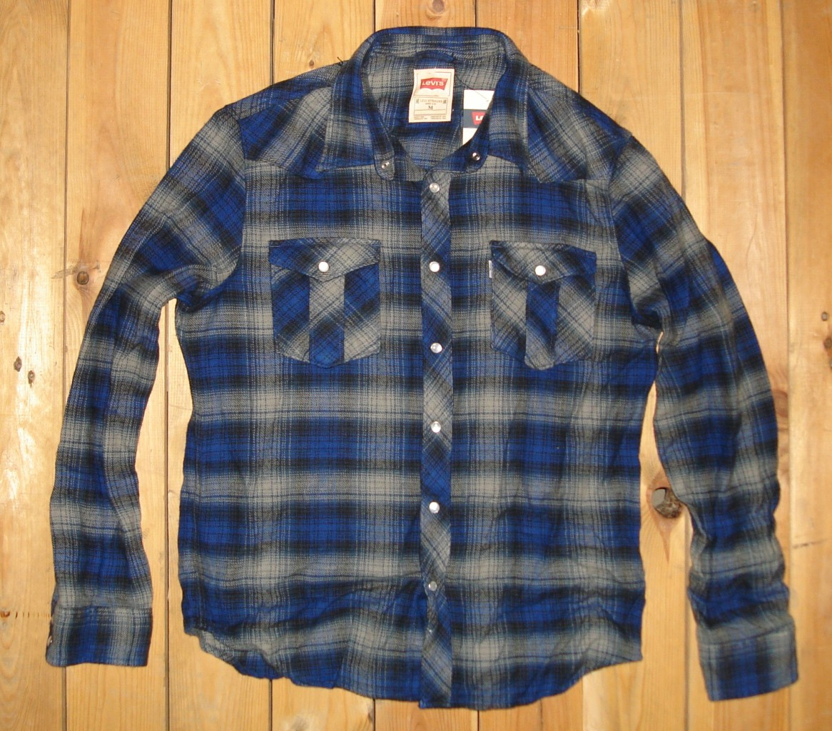 Levi 39 S 58 Men 39 S Flannel L S Snap Button Up Shirt Nwt S M