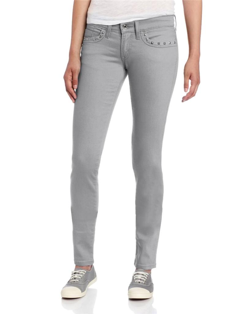Levi&amp039s Juniors Women 524 Skinny Jeans with Studs Grey 0010 0