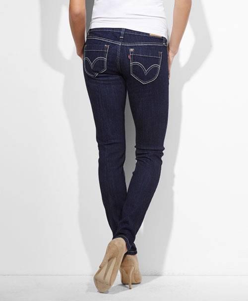 levis 524 juniors triple needle skinny jeans simply blue