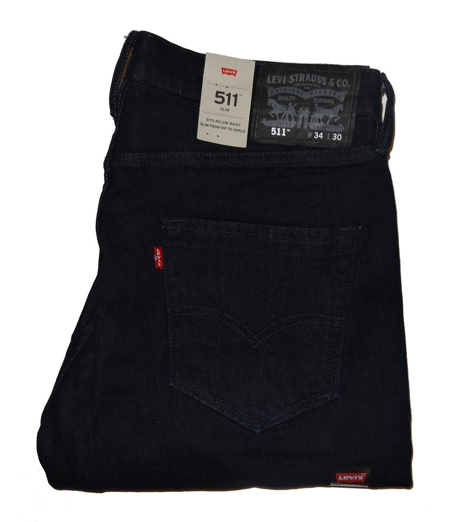 levi 39 s men 39 s 511 slim fit commuter pants dark night blue 0076 nwt 30 32 34 36 x. Black Bedroom Furniture Sets. Home Design Ideas