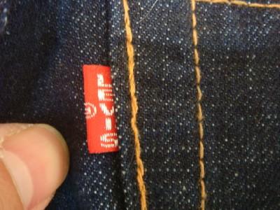 VINTAGE REPRO LEVIS 501 BIG E RED LINE DENIM PANTS SZ 34