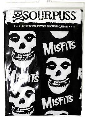 Shower Curtain Misfits Skull Punk Rockabilly Tattoo Retro Fiend Danzig