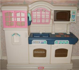 Plain Little Tikes Victorian Play Kitchen Child Size Pink White