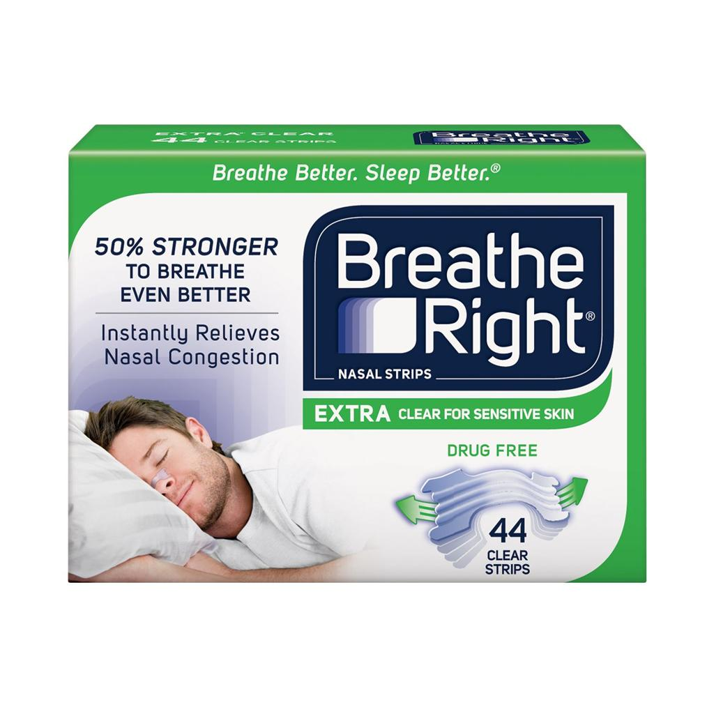 How to apply breathe right strips