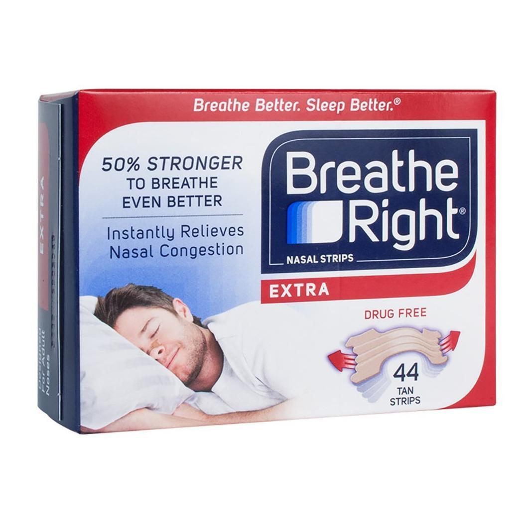 Breathe right nasal strip