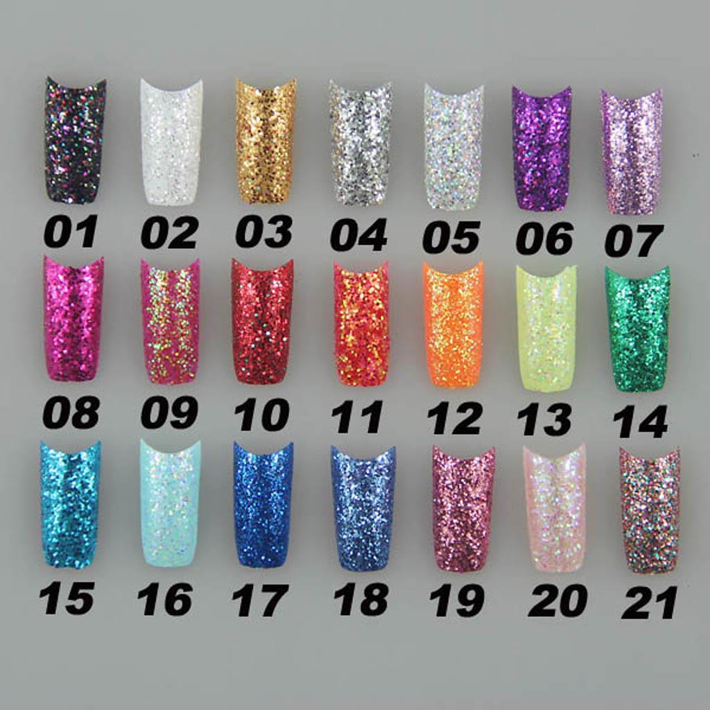 Fantastic Blue Glitter Acrylic Nails Photos - Nail Art Design Ideas ...