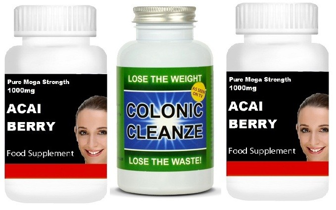Таблетки для похудения Detox Colon Cleanse Weight Loss Pills +2x Acai Berry 1000MG Slimming Fat Blocker в интернет магазине Ru-e
