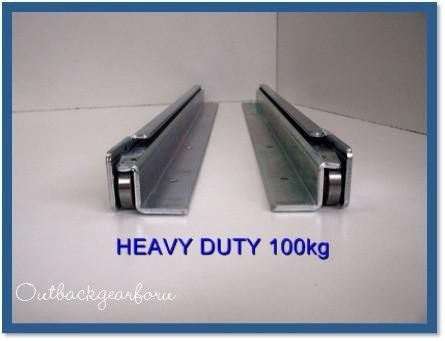 1000mm 4wd Drawer Slide Fridge Runner H Duty 100kg