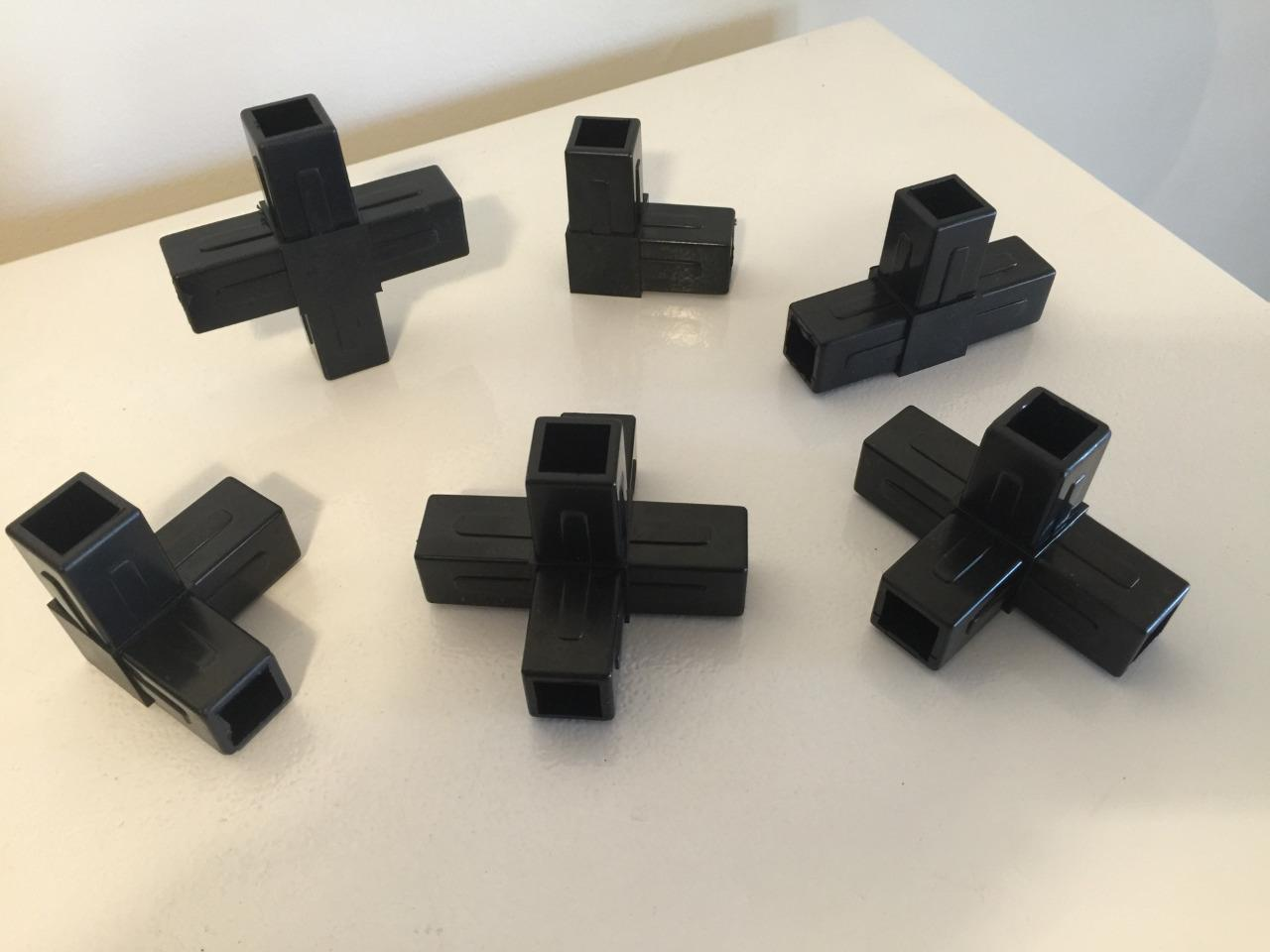 Aluminium square tube connectors mm