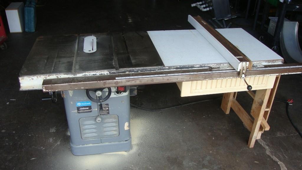 Rockwell Unisaw 3 Hp Single Phase 54 Quot Biesemeyer Fence