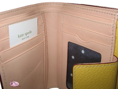 Kate Spade Leather Lisa Wellesley French Coin Purse Money Clutch