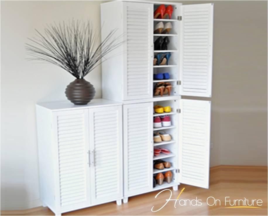 Brand New White Louvre Door 36 Pairs Shoe Storage Cabinet/Rack ...
