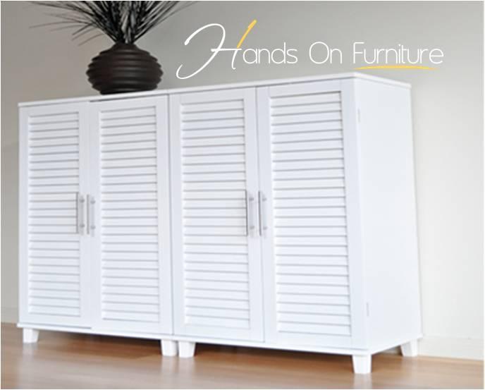 Brand New White Louvre Door   36 Pairs Shoe Storage Cabinet/Rack/Cupboard  (x2) | EBay