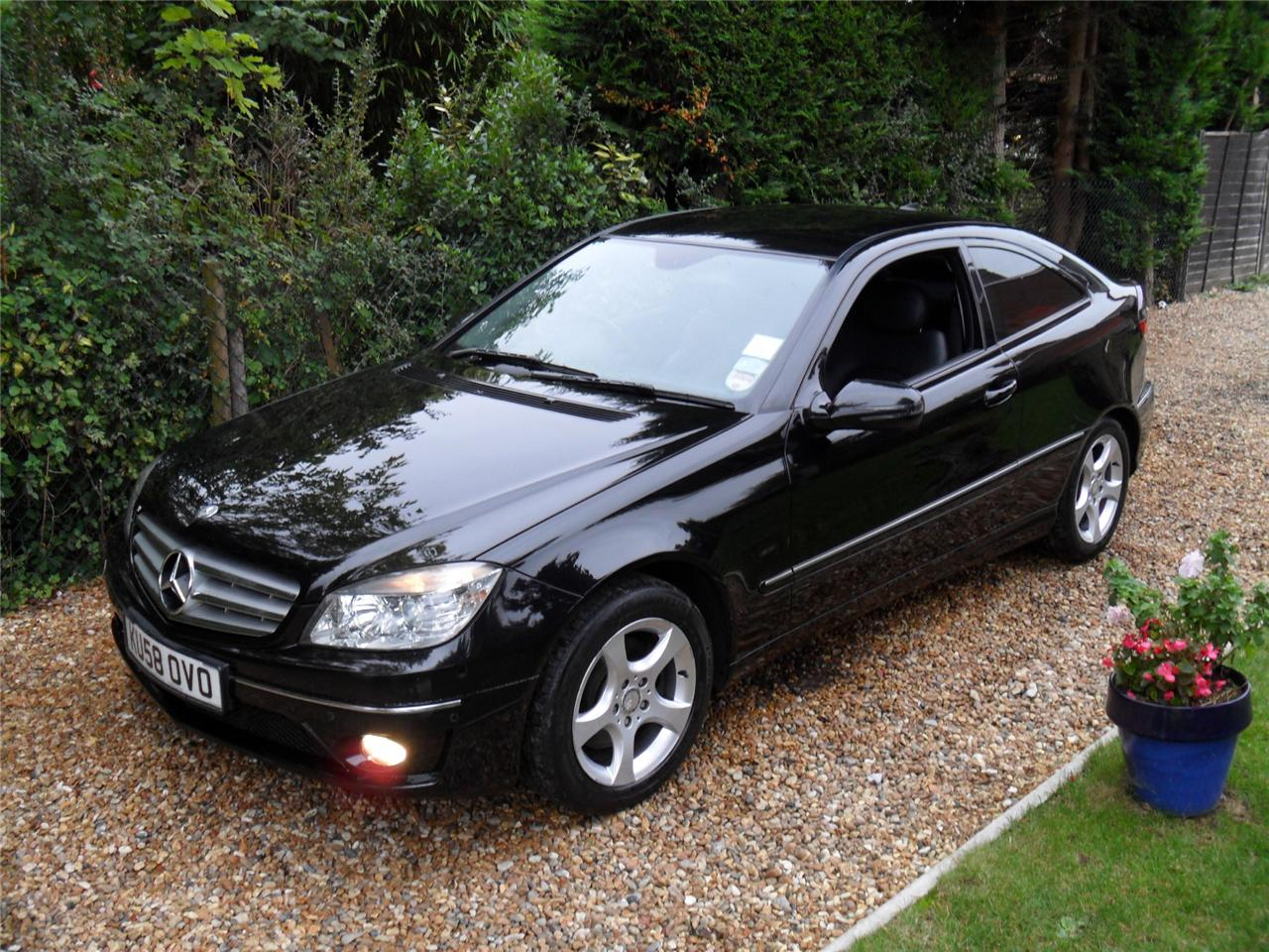 2008 58 black mercedes benz clc 200 kompressor ebay. Black Bedroom Furniture Sets. Home Design Ideas