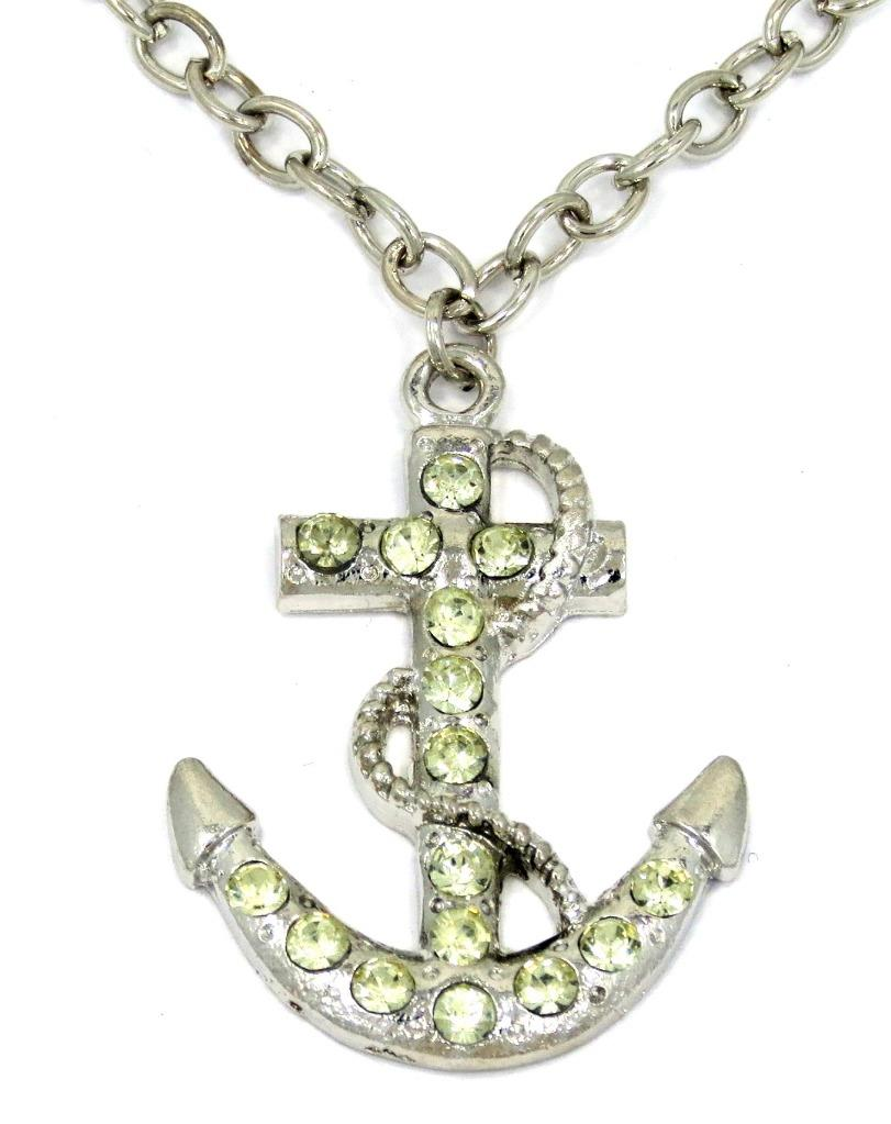 new anchor rope pendant charm gold silver tone