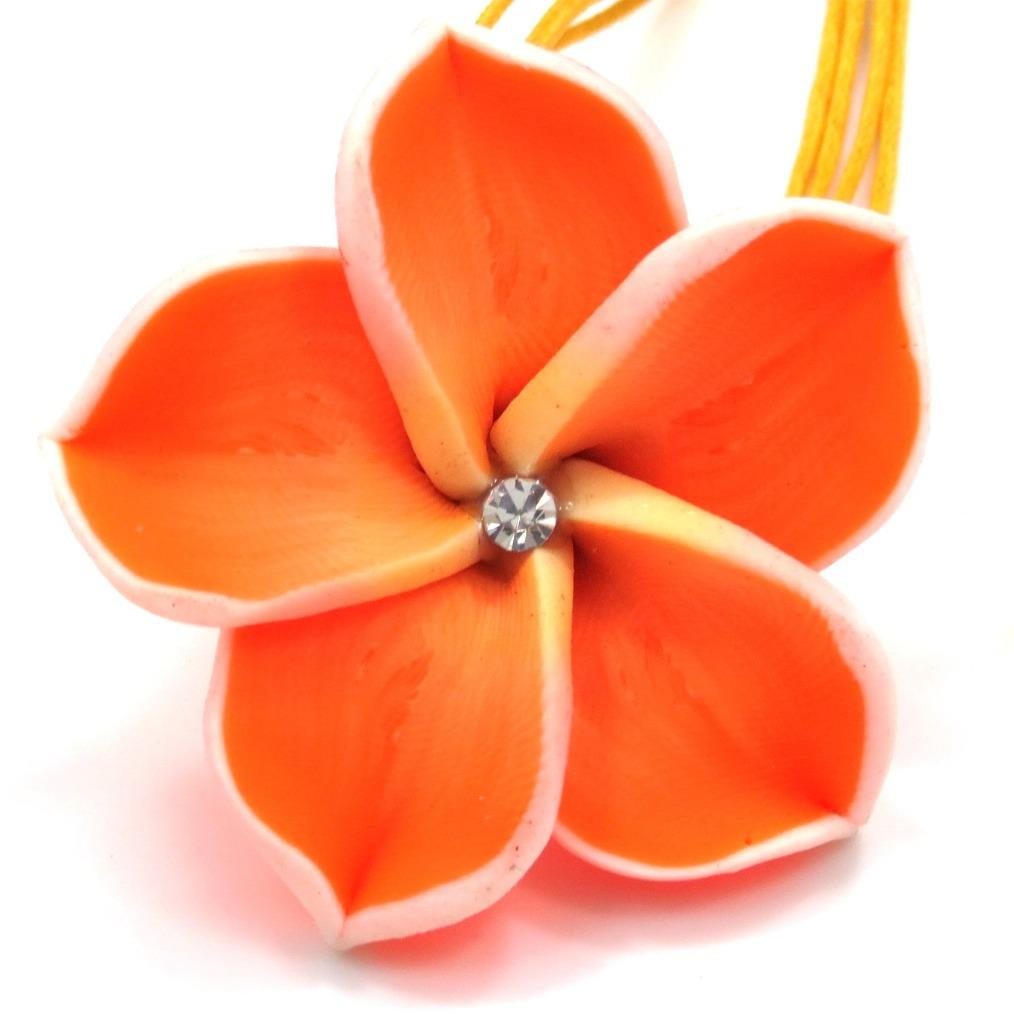 Details about beautiful plumeria hawaiian flower pendant charm matching necklace fimo beautiful plumeria hawaiian flower pendant charm matching necklace izmirmasajfo