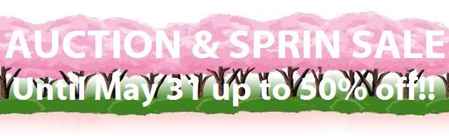 Spring sale until May 31 up to 50% off!!