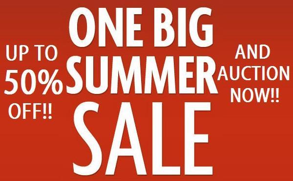 SUMMER SALE & AUCTION!!
