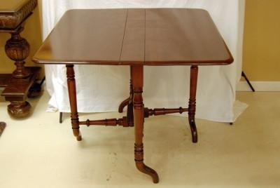 English Mahogany Narrow Drop Leaf Table Circa 1920s Ebay