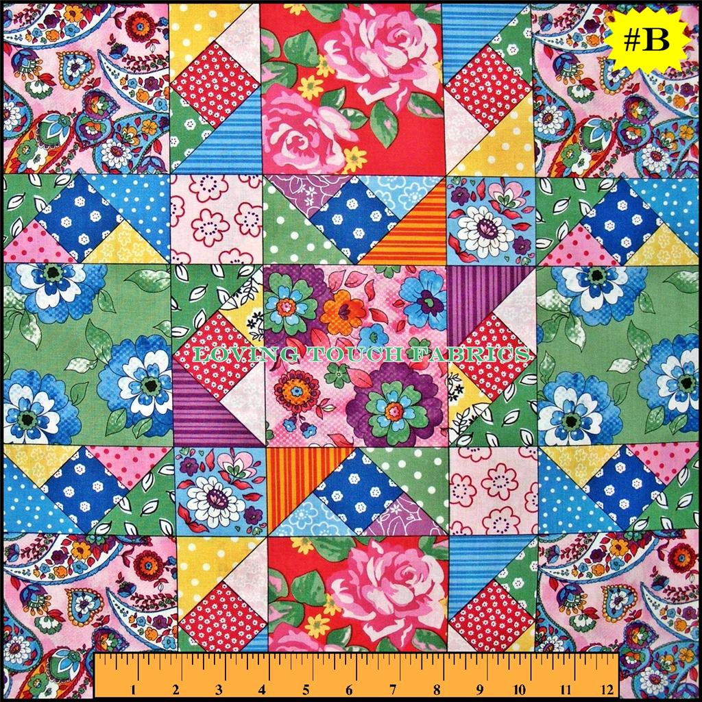 Sewing theme quilting bee ladies patchwork cotton fabric for Dressmaking fabric