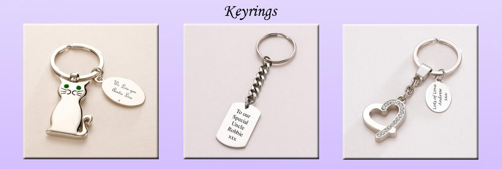 Keyrings with Engraving