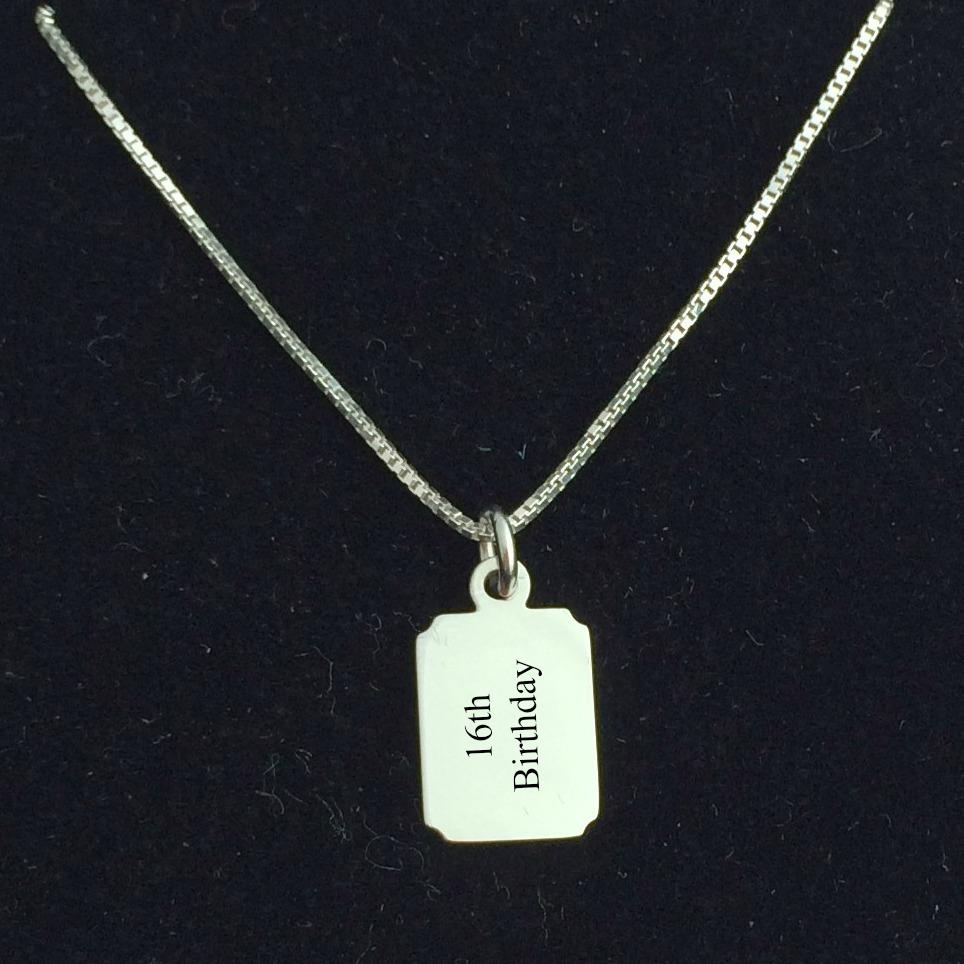 Engraved Jewellery For Boys. Gift For 16th, 18th, 21st