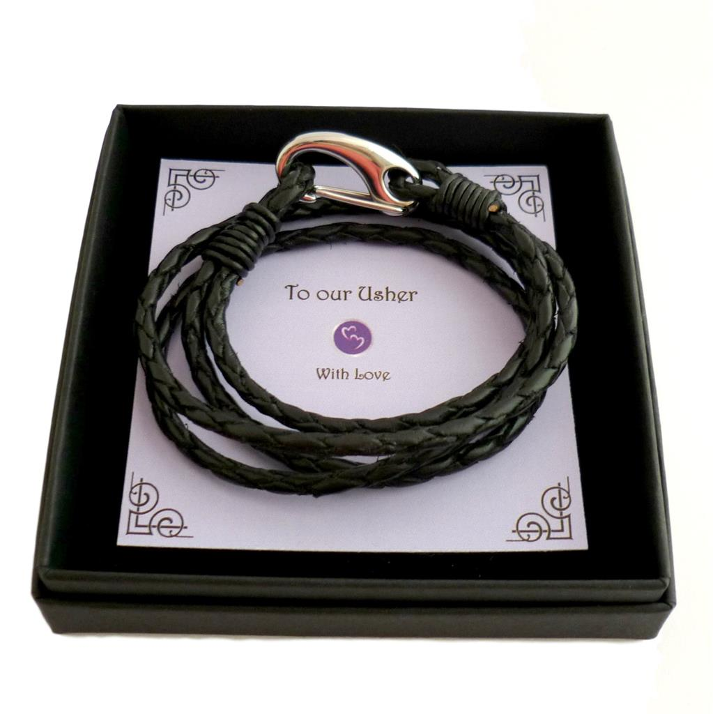 Men-039-s-Jewellery-Leather-Bracelet-with-Gift-Box-for-Dad-Brother-Uncle-Son-etc