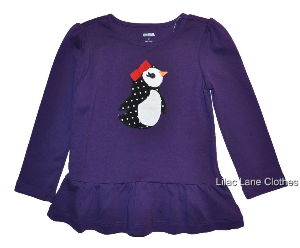 Gymboree-Winter-Penguin-Velour-Hoodie-Dress-Black-Purple-Red-U-Pick-NWT