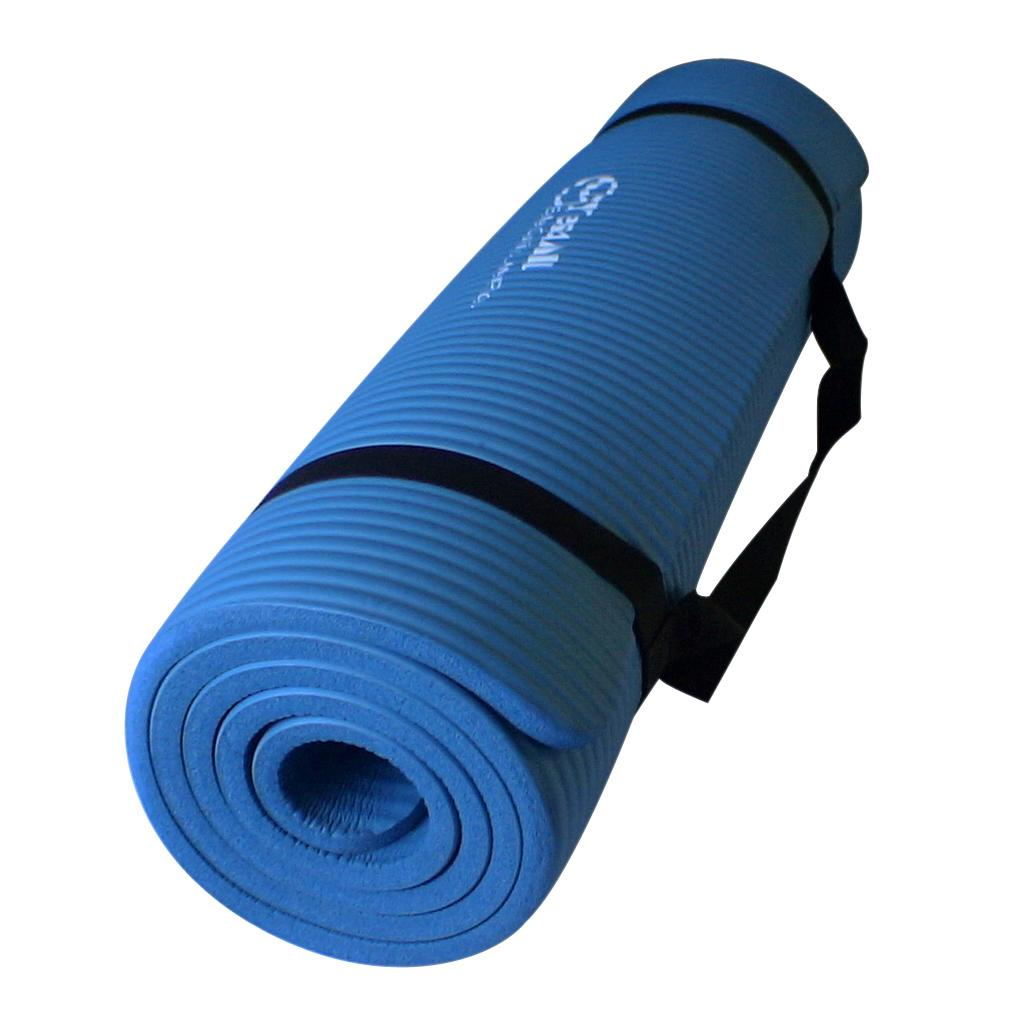 Premium Blue Exercise Yoga Extra Mat Thick Durable 68x24x0