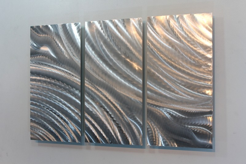 metal abstract modern silver wall art sculpture locomotion by jon