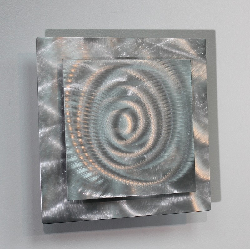 details about metal abstract modern silver wall art sculpture prizm 4