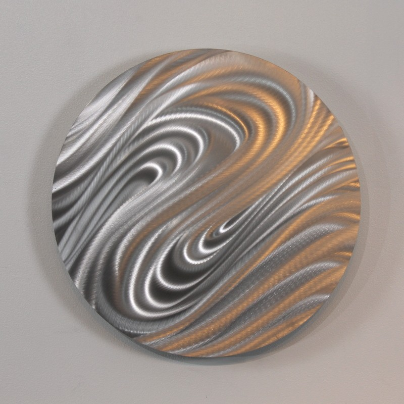 Contemporary Silver Wall Decor : Contemporary abstract silver metal wall art home decor