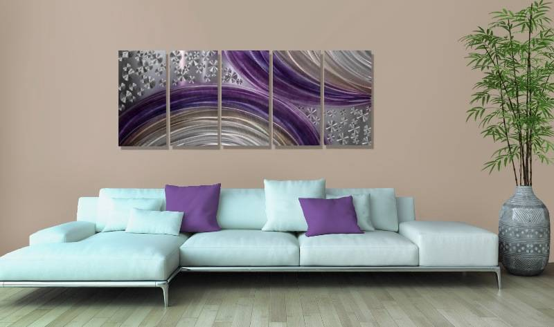 purple metal wall art painting by jon allen winter solstice ebay