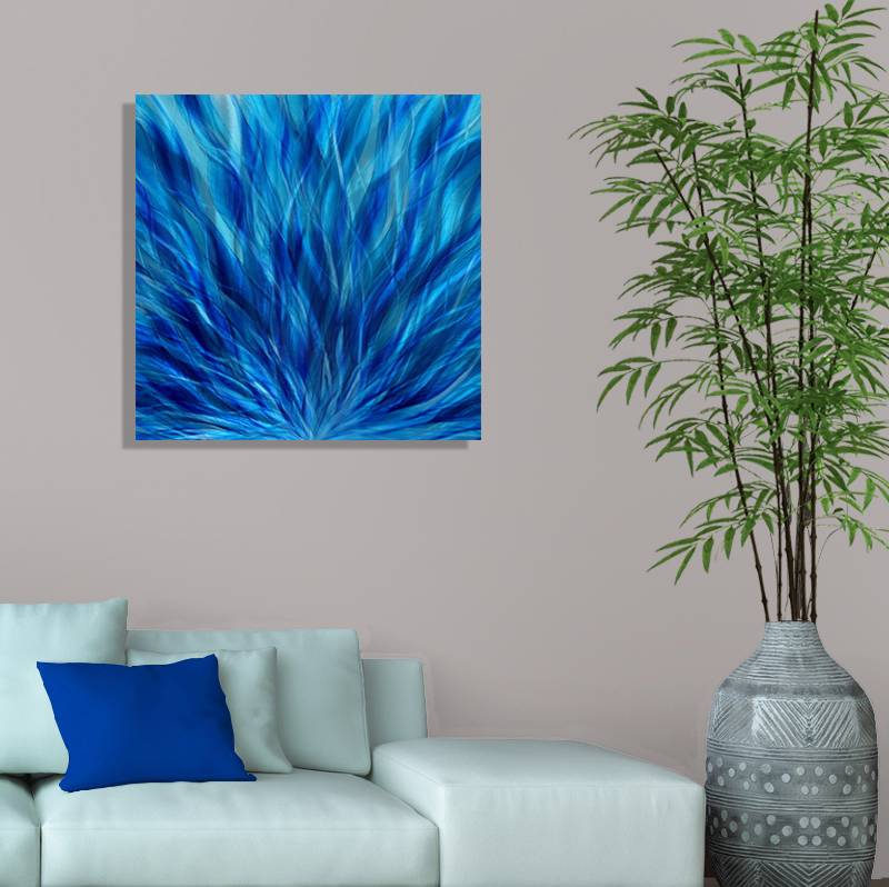 abstract painting metal wall art decor accent winter blaze ebay