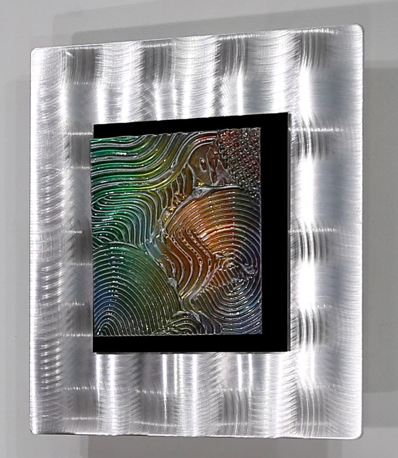 modern metal abstract hand painted wall art accent decor by jon allen