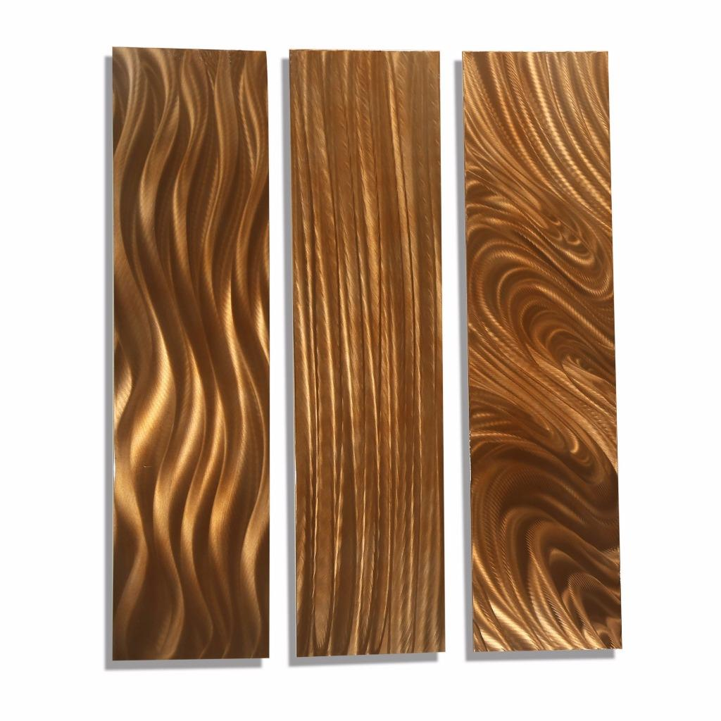 Contemporary copper metal home decor abstract wall art for Copper wall art