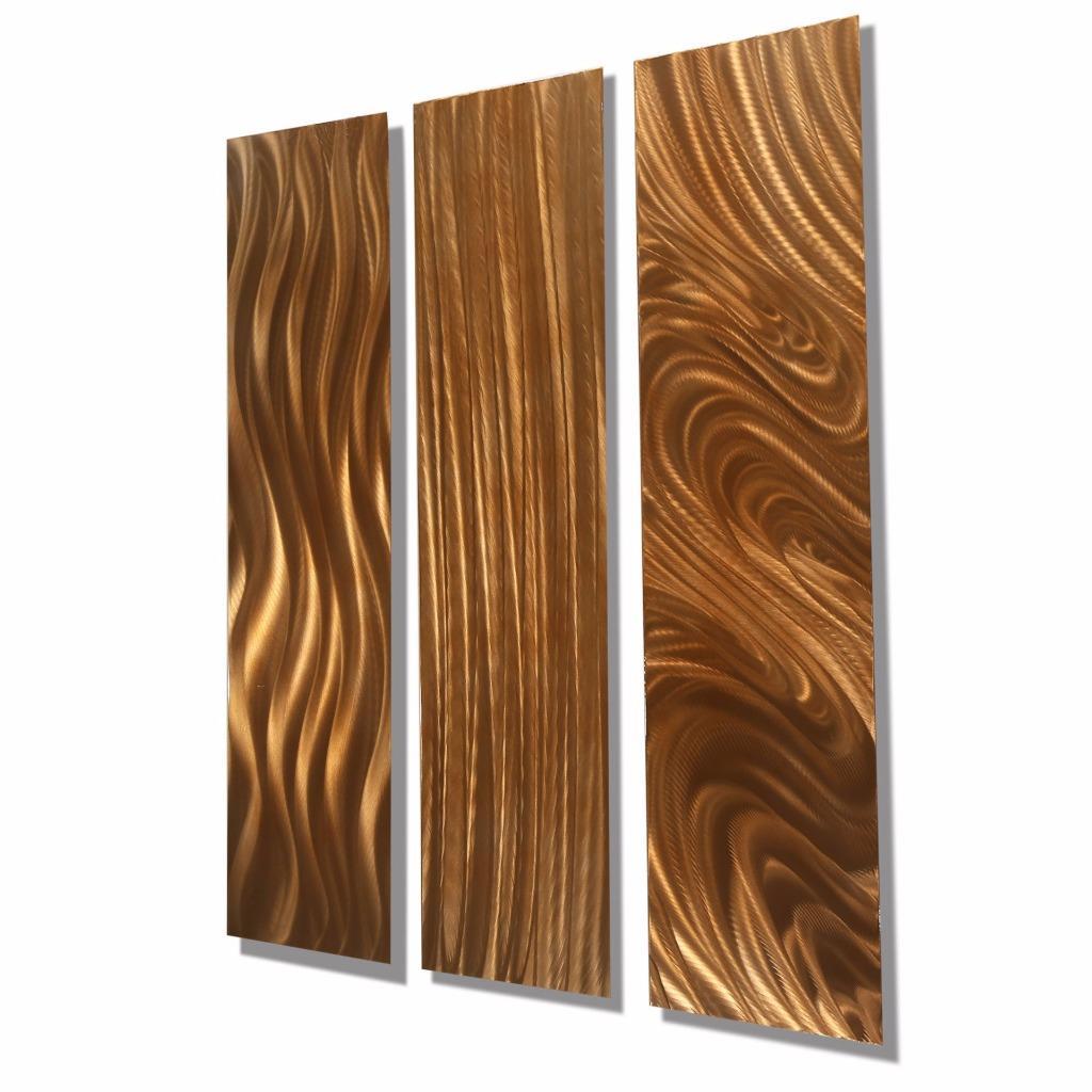 Copper Wall Art Home Decor ~ Contemporary copper metal home decor abstract wall art