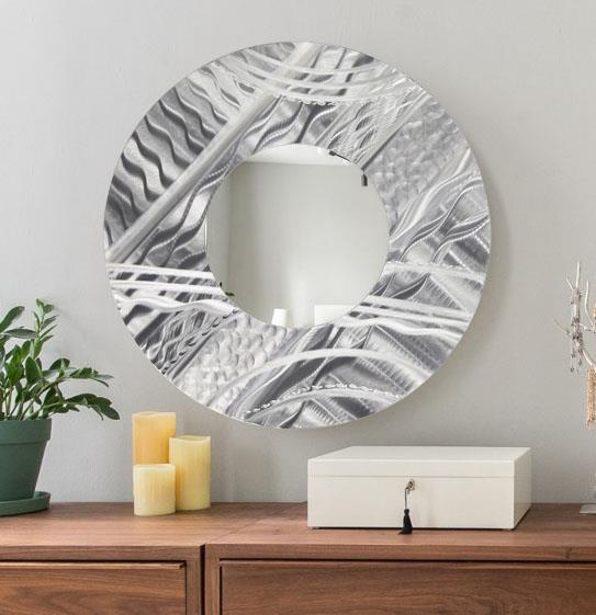 Metal wall art mirrors
