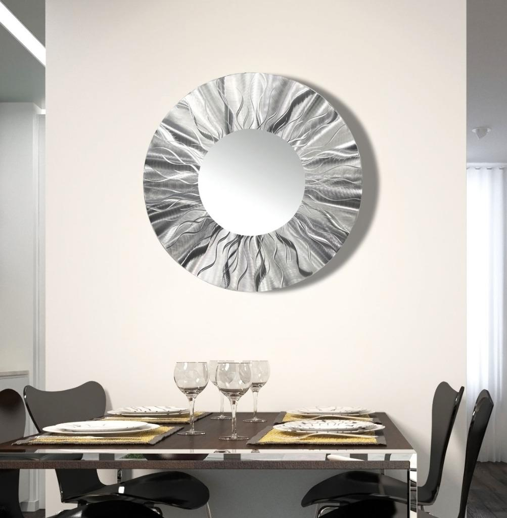 details about handmade round modern metal wall art contemporary mirror
