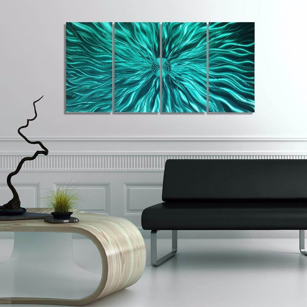 abstract metal wall art sculpture aqua static by jon allen ebay