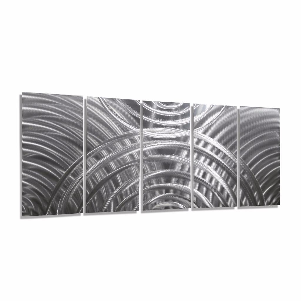 silver abstract metal wall art sculpture eclipse by jon allen