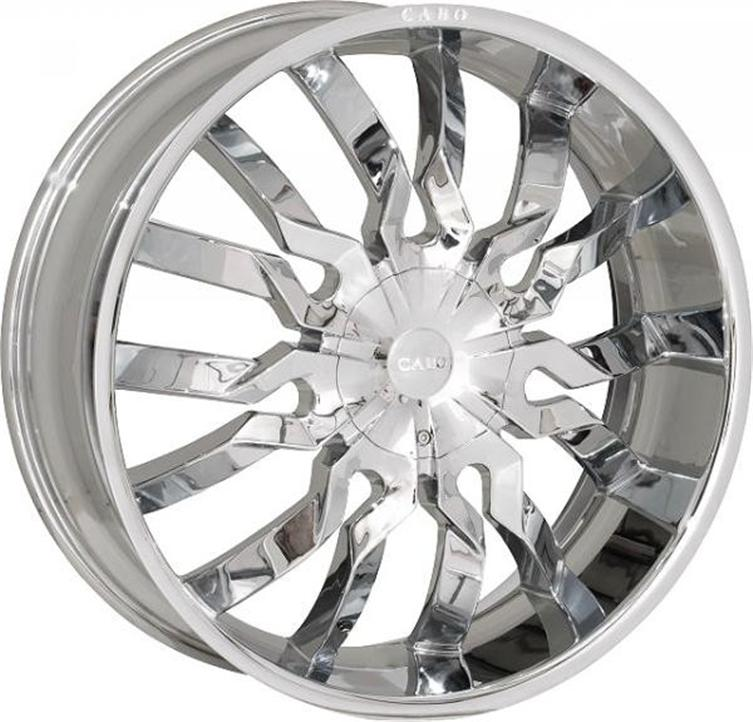 22 Cabo 118 Triple Chrome Wheels Rims Tires Pkg 5x120 5x120 65