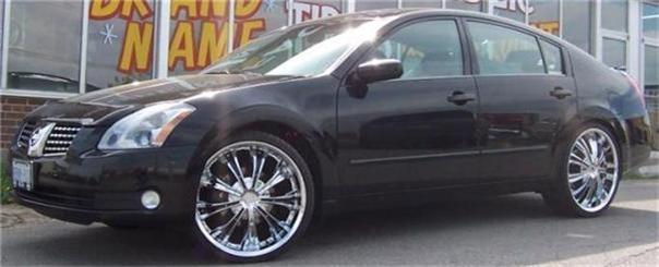 22 inch Chrome Black Inserts Wheels Rims Rockstarr 411